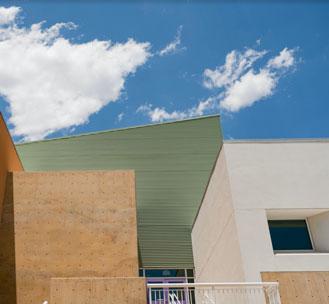 Explora facility architectural detail